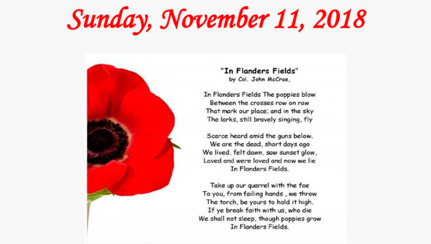 Remembrance Day in Trent Hills | Trent Hills Now